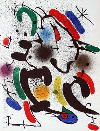 Composition VI 1974 - Joan Miro reproduction oil painting