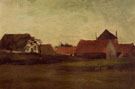 Farmhouses in Lossduinen Near the Hagueat Twilight - Vincent van Gogh
