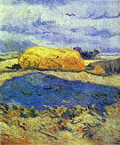Haystack in Rainy Day - Vincent van Gogh