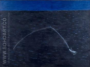 Speedboat's Wake 1959 - Milton Avery reproduction oil painting
