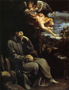 Guido Reni St Francis Consoled by Angelic Music 1610