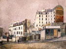 Paris Rue Ravignan 1913 - Maurice Utrillo reproduction oil painting