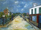 Maurice Utrillo Road in Argenteuil Val dOise 1914