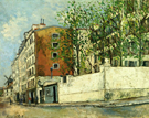Maurice Utrillo Rue Orchampt in Montmartre 1910