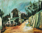 Maurice Utrillo Rue Saint Vincent and the Lapin Agile 1917