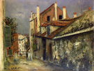 The House of Mimi Pinson in Montmartre 1915 - Maurice Utrillo