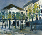 The Theatre de I Atelier 1913 - Maurice Utrillo