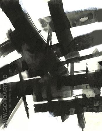 Untitled 1708 - Franz Kline reproduction oil painting