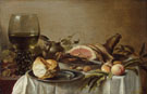 Pieter Claesz Breakfast with Ham 1647