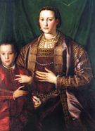 Agnolo Bronzino Eleonora of Toledo and Her Son Francesco 1549