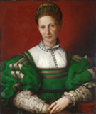 Agnolo Bronzino Portrait of a Lady in Green c1528