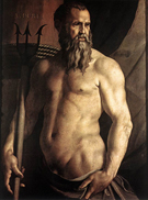 Agnolo Bronzino Portrait of Andrea Doria as Neptune