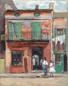 Street Scene Panama - Alson Skinner Clark reproduction oil painting