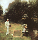 Painting at Calcot - Dennis Miller Bunker