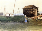 The Fisher Girl Nantucket 1881 - Dennis Miller Bunker