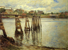 Joseph de Camp Jetty at Low Tide Aka The Water Pier 1901