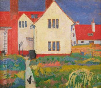 House at Letchworth - Harold Gilman reproduction oil painting