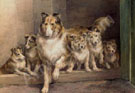 Edmund Henry Osthaus A Collie and Her Puppies