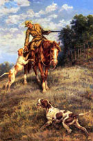 Edmund Henry Osthaus A Hunter and His Dogs