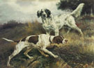 Edmund Henry Osthaus A Pointer and English Setter