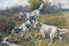 Edmund Henry Osthaus English Setters at a Stream