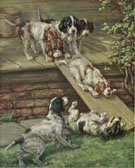 Edmund Henry Osthaus Playfull Puppies