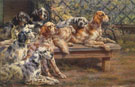 Edmund Henry Osthaus Seven English Setters