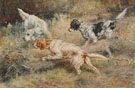 Edmund Henry Osthaus Three Dogs in the Hunt