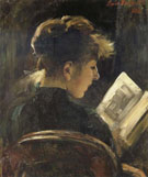 Lovis Corinth Girl Reading
