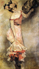 Lovis Corinth Portrait of Elly 1889