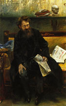 Portrait of the Poet Peter Hille  1902 - Lovis Corinth
