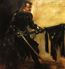 Lovis Corinth Rudolph Rittner as Florian Geyer First Version 1906