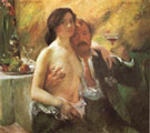 Self Portrait with His Wife and a Glass of Champagne 1902 - Lovis Corinth