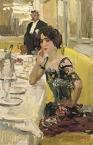 Isaac Israels A Table au Restaurant le Perroquet Paris