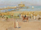 Isaac Israels A View of the Pier in Scheveningen