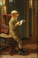 Edgard Farasyn Child Reading