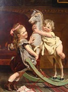 The Rocking Horse 1878 - Edgard Farasyn