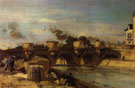Johan Barthold Jongkind Fire on Pont Neuf