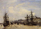 Johan Barthold Jongkind Honfleur the Railroad Dock