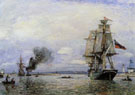 Johan Barthold Jongkind Leaving the Port of Honfleur
