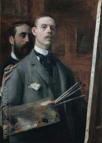 Self Portrait - Jacques Emile Blanche reproduction oil painting