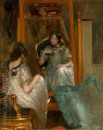 The Mirror B - Jacques Emile Blanche reproduction oil painting