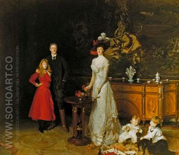 Sir George Sitwell Lady Lda Sitwell and Family 1900 - John Singer Sargent reproduction oil painting