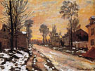 Road to Louveciennes Melting Snow Sunset 1870 - Claude Monet