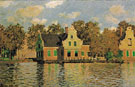 Houses on the Zaan River 1871 - Claude Monet