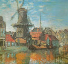 Windmill at Amsterdam 1874 - Claude Monet