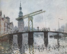 The Drawbridge at Amsterdam 1874 - Claude Monet