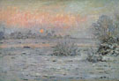 Snow Covered Landscape Dusk 1880 - Claude Monet