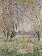 Woman Seated under the Willows 1880 - Claude Monet