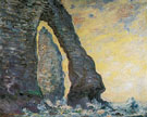 Cliffs at Etretat 1886 - Claude Monet reproduction oil painting